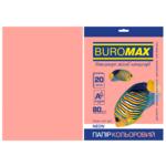 Бумага цветная Buromax, А4, 80г/м2, NEON, розовый, 20 листов (BM.2721520-10)