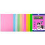 Набор цветной бумаги Buromax, А4, 80г/м2, PASTEL+NEON, 10 цветов, 20 листов (BM.2721720-99)