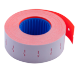 Ценник 22*12мм (1000шт, 12м), прямоугольный, внутренняя намотка, красный (BM.281101-05)