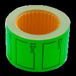 """Ценник 35*25мм, """"ЦІНА"""", (240шт, 6м), прямоугольный, внешняя намотка, зеленый (BM.282106-04)"""