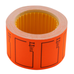 "Ценник 35*25мм, ""ЦІНА"", (240шт, 6м), прямоугольный, внешняя намотка, оранжевый (BM.282106-11)"