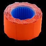 Ценник 26*12мм (500шт, 6м), фигурный, внешняя намотка, оранжевый (BM.282202-11)