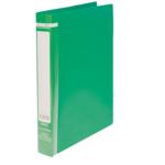 Папка пластиковая Buromax, A4, 35 мм, кольцевой механизм, 2 кольца, зеленый (BM.3161-04)