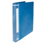 Папка пластиковая Buromax, A4, 25 мм, кольцевой механизм, 2 кольца, синий (BM.3167-02)