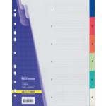 Цифровой индекс-разделитель для регистраторов Buromax, А4, 6 позиций (BM.3210)
