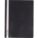 Скоросшиватель пластиковый Buromax, А4, PP, черный (BM.3311-01)
