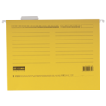Файлы подвесные Buromax, А4, картон, желтый (BM.3350-08)
