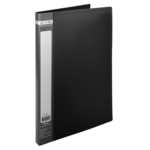 Папка пластиковая со скоросшивателем Buromax Jobmax, А4, черный (BM.3406-01)