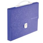 Портфель пластиковий Buromax Barocco, А4, 35 мм, фиолетовый (BM.3719-07)