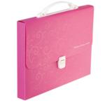 Портфель пластиковий Buromax Barocco, А4, 35 мм, розовый (BM.3719-10)