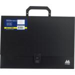 Портфель пластиковий Buromax, А4, 35 мм, черный (BM.3724-01)