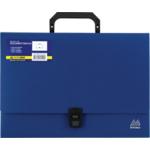 Портфель пластиковий Buromax, А4, 35 мм, синий (BM.3724-02)