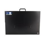Портфель пластиковий Buromax Professional, А2, 40 мм, черный (BM.3726-01)