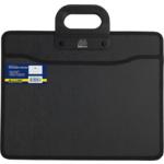 Портфель пластиковий на 2 отделения Buromax, B4, черный (BM.3733-01)