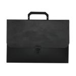 Портфель пластиковий на замке Buromax Jobmax, А4, 35 мм, черный (BM.3735-01)