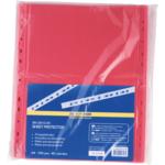 Файлы для документов красные Buromax, А4, глянцевый, 40 мкн, 100 шт (BM.3810-05)