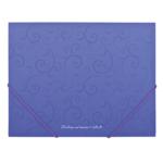 Папка пластиковая на резинках Buromax Barocco, А5, фиолетовый (BM.3902-07)