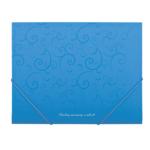 Папка пластиковая на резинках Buromax Barocco, А5, голубой (BM.3902-14)