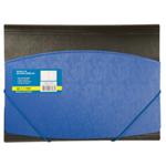 Папка пластиковая на резинках Buromax, А4, двухцветная, синий (BM.3910-02)