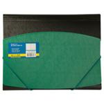 Папка пластиковая на резинках Buromax, А4, двухцветная, зеленый (BM.3910-04)