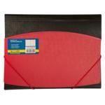 Папка пластиковая на резинках Buromax, А4, двухцветная, красный (BM.3910-05)