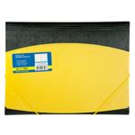 Папка пластиковая на резинках Buromax, А4, двухцветная, желтый (BM.3910-08)