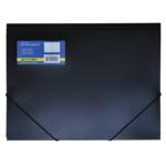 Папка пластиковая на резинках Buromax, А4, черный (BM.3913-01)
