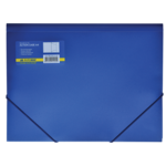 Папка пластиковая на резинках Buromax, А4, синий (BM.3913-02)