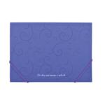 Папка пластиковая на резинках Buromax Barocco, А4, фиолетовый (BM.3914-07)