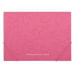 Папка пластиковая на резинках Buromax Barocco, А4, розовый (BM.3914-10)