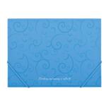 Папка на резинках Buromax Barocco, А4, голубой