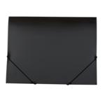 Папка пластиковая на резинках Buromax Gloss, А4, черный (BM.3915-01)