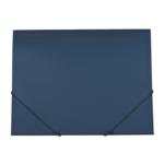 Папка пластиковая на резинках Buromax Gloss, А4, синий (BM.3915-02)