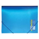 Папка пластиковая на резинках Buromax Metallic, А4, синий (BM.3917-02)
