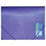 Папка пластиковая на резинках Buromax Metallic, А4, фиолетовый (BM.3917-07)