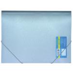 Папка пластиковая на резинках Buromax Metallic, А4, серебро (BM.3917-24)