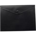 Папка-конверт на кнопке Buromax, A4, черный (BM.3925-01)