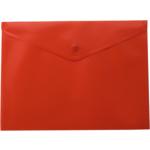 Папка-конверт на кнопке Buromax, A4, красный (BM.3925-05)