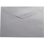 Папка-конверт на кнопке Buromax, A4, серый (BM.3925-09)