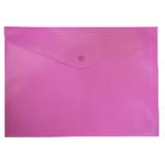 Папка-конверт на кнопке Buromax, A4, розовый (BM.3925-10)