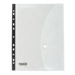 Папка-конверт на кнопке Buromax Professional, A4, перфорация, прозрачный (BM.3930-00)
