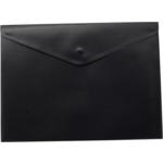 Папка-конверт на кнопке Buromax, A5, черный (BM.3935-01)