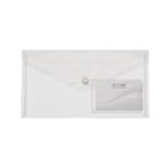 Папка-конверт на кнопке Buromax Travel, DL (240x130 мм), прозрачный (BM.3938-00)