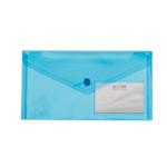 Папка-конверт на кнопке Buromax Travel, DL (240x130 мм), синий (BM.3938-02)