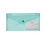 Папка-конверт на кнопке Buromax Travel, DL (240x130 мм), зеленый (BM.3938-04)