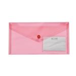 Папка-конверт на кнопке Buromax Travel, DL (240x130 мм), красный (BM.3938-05)
