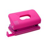 Дырокол Buromax пластиковый RUBBER TOUCH, 10л., розовый (BM.4016-10)