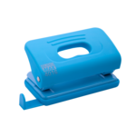 Дырокол Buromax пластиковый RUBBER TOUCH, 10л., голубой (BM.4016-14)