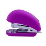 Степлер Buromax пластиковый RUBBER TOUCH Мини, 12л.,(скобы №24, 26), фиолетовый (BM.4234-07)