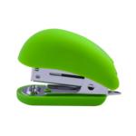 Степлер Buromax пластиковый RUBBER TOUCH Мини, 12л.,(скобы №24, 26), св-зеленый (BM.4234-15)